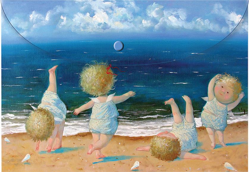Открытки ребенок на море